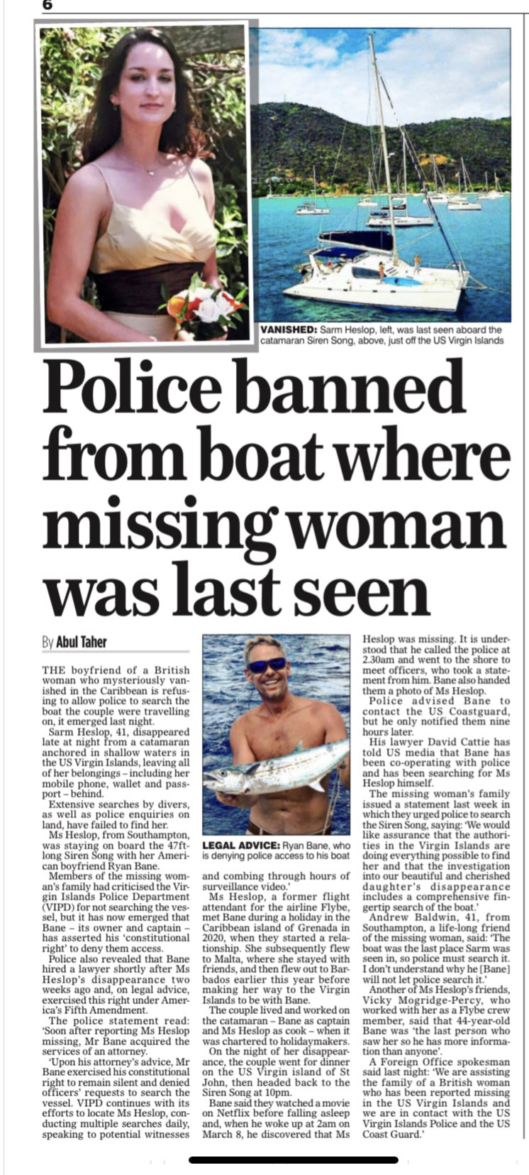 Mail On Sunday Police Banned From Boat