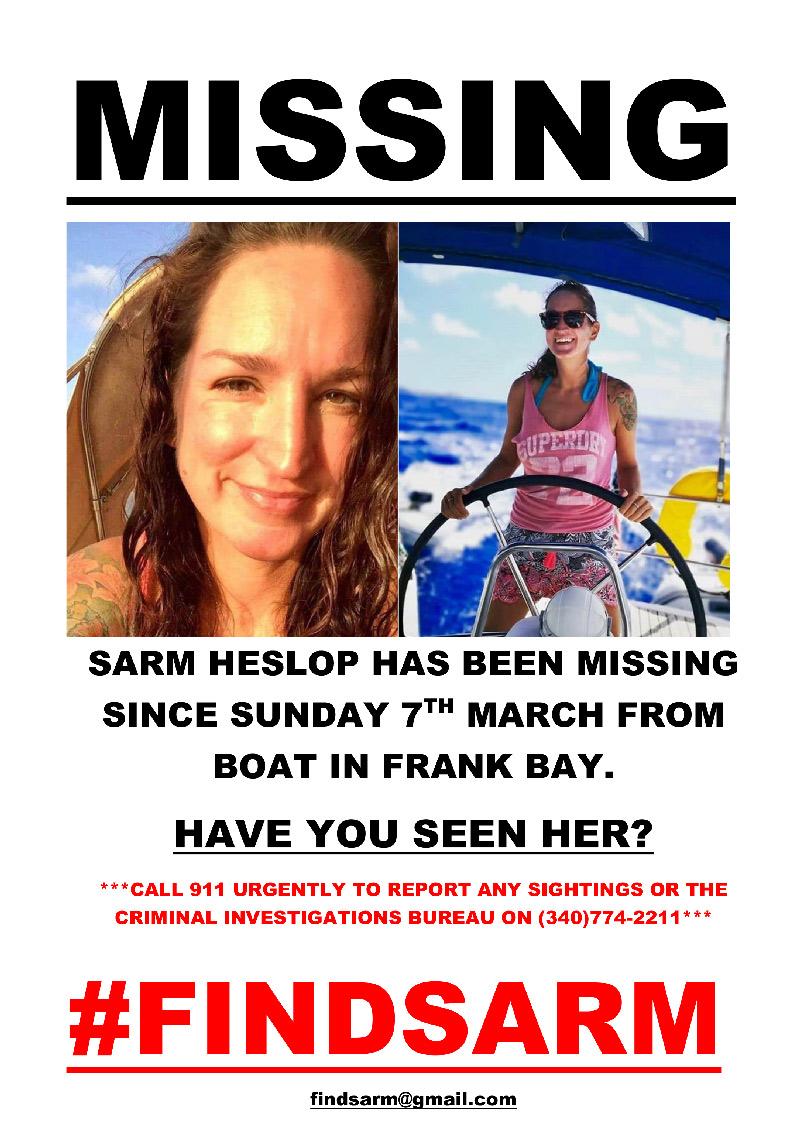 MISSING POSTER FOR SARM HESLOP