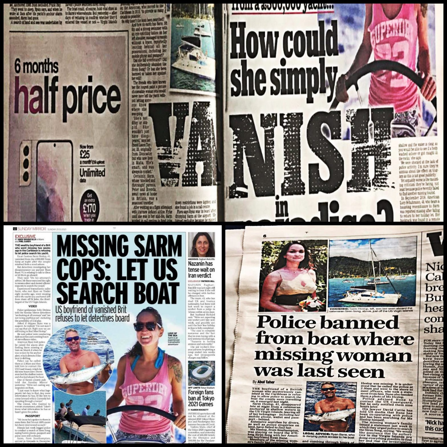 Missing Sarm Cops Let Us Search Boat