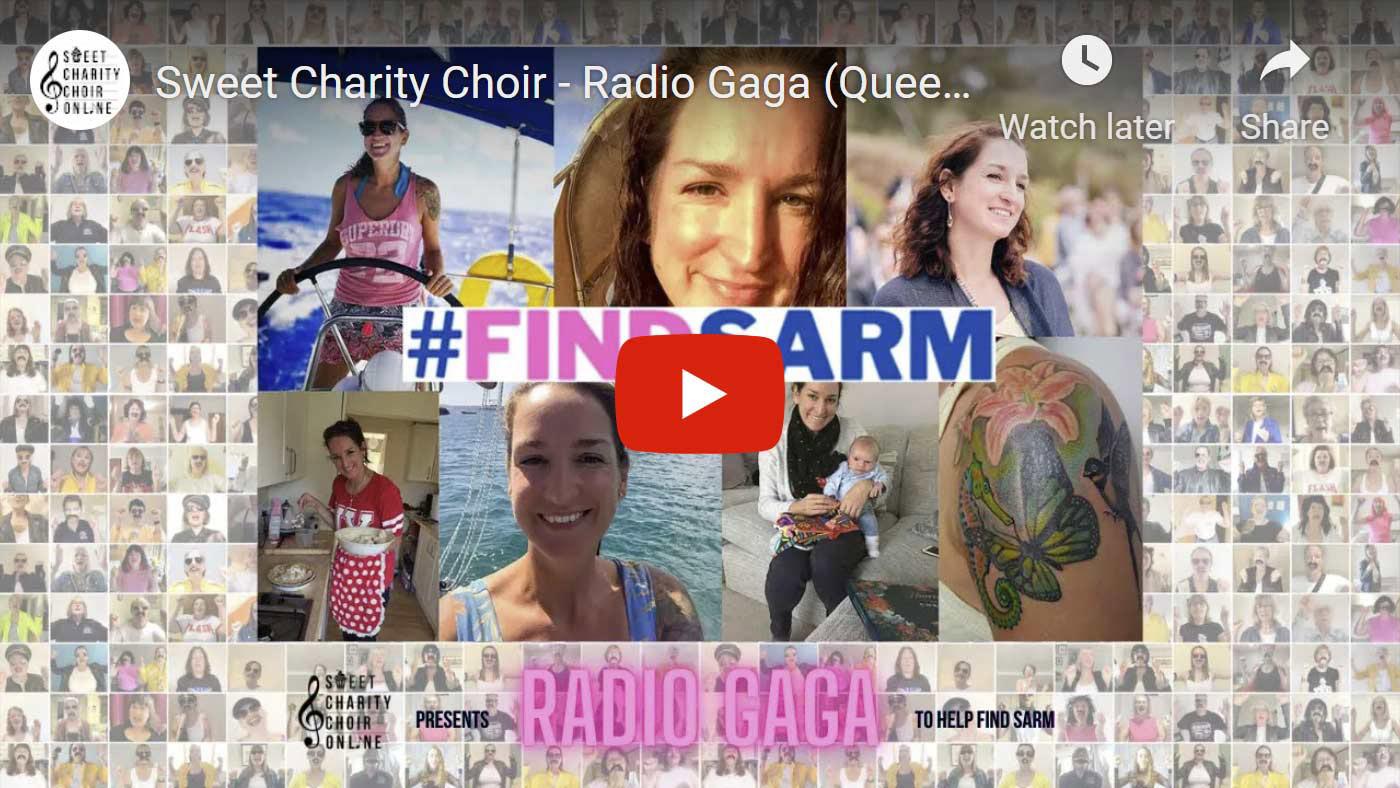 Sweet Charity Choir Sarm Heslop Radio Gaga